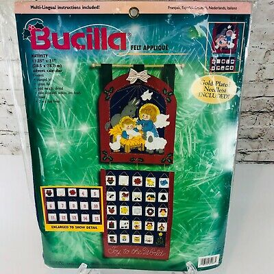 Bucilla Nativity Advent Calendar Christmas Felt Applique 11.25x31 Kit 84268 (K1)