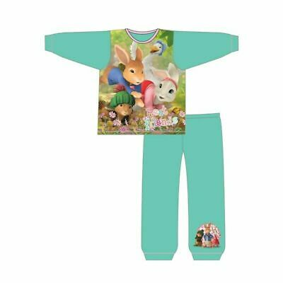 Girls Official Peter Rabbit Long Cotton Pyjamas Lily Bobtail PJs Age 1-5 Yrs