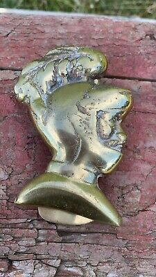Beautiful Brass Vintage Knight Soldier Head Door Knocker *