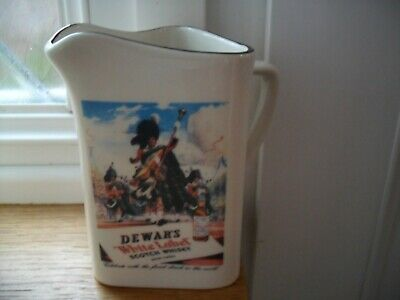 """Dewars  White Label Whisky Jug  Unused"