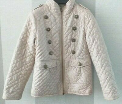 Girl Clothing NEXT Cream Lightweight Quilted Military Style Jacket 7-8 Years VGC