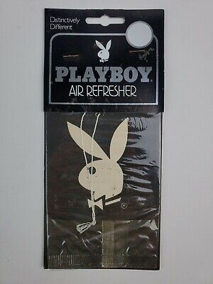 Vintage Playboy Air Freshener Playboy Bunny  Black White double sided Sealed