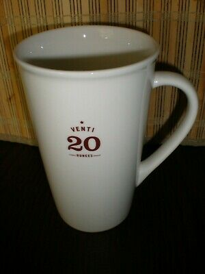 Starbucks Venti 20 oz Coffee Mug Ivory Ceramic 2010