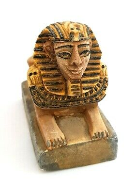 Sphinx Statue Egyptian Figurine Ancient Egypt Pyramid Stone Pharaoh Carved Tomb