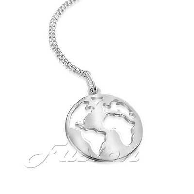 Sterling silver year 2000 ad world globe charm pendant by Amalco