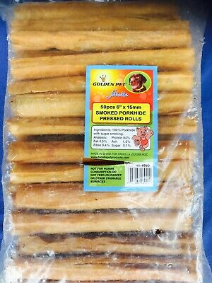 """Porkhide - 5"""" Cigars x50 - Case Of 20 Packets - Wholesaler Clearance Rawhide."""