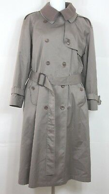 Worthington Womens Trench Coat Wool Lined Beige Size 10P Belted Made in Poland