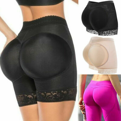 HOT Padded Bum Pants Hip Enhancer Shaper Butt Lifter Booty Boyshort Underwear UK