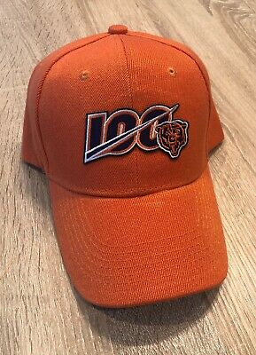 Chicago Bears NEW NFL 100 th Season Cap Hat  2019 Adjustable Patch Style Orange
