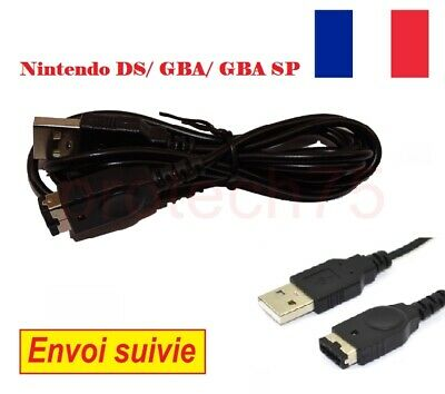 Câble USB chargeur Sync pour Nintendo DS GameBoy Advance SP Game Boy GBA