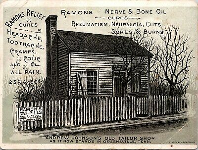 RARE - RAMONS RELIEF NERVE BONE OIL Cure Quack Medicine Trade Card