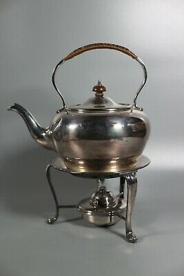 Antique Mappin & Webb Silver Plated Spirit Kettle Triple Princes Plate