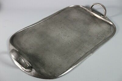 Liberty & Co Tudric Twin Handled Pewter Tea Tray Archibald Knox 043
