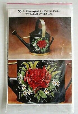Kate Broadfoot pattern packet for painting - Australian Waratah - watering can