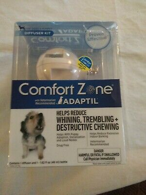 Comfort Zone~Adaptil~Calming Diffuser & 48 ml Bottle Dogs Puppy W/Refill * NEW
