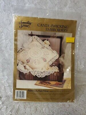 Something Special Candlewicking Embroidery Kit Patchwork Plate Pillow #80220