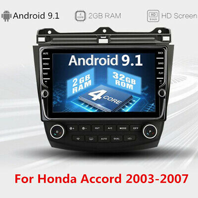 "9"" Stereo Android 9.1 Radio MP5 GPS Navigation 2+32GB A/C For Honda Accord 03-07"