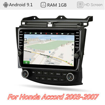 "9"" Stereo Android 9.1 Radio GPS Wifi 1+16GB Klimaanlage For Honda Accord 03-07"