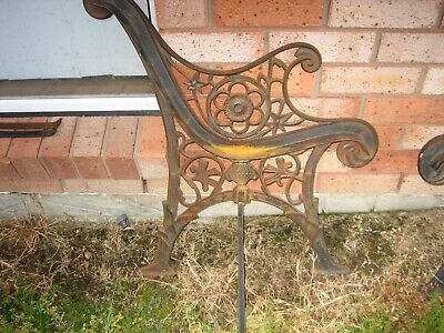 cast iron antique bench seat ends no cracks great condition
