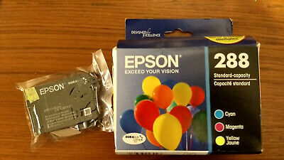 Genuine Set 4 Epson #288 T2881-T2884 Ink Expression Home Xp-330/430/440/446 New