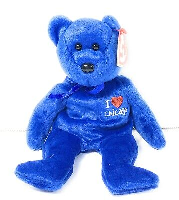 MINT with MINT TAG TY I LOVE CHICAGO BEANIE BABY STATE EXCLUSIVE