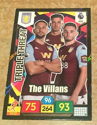 Panini Adrenalyn 2019/20 Premier League Aston Villa Triple Threat card