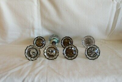 Vintage Glass Metal Door Knobs Handles from a NJ Farm House
