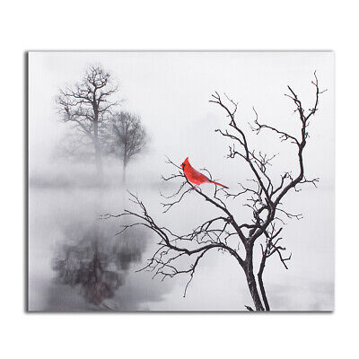 Red Bird Tree Canvas Print Painting Modern Home Wall Picture Art Decor  G