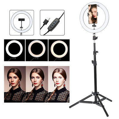 "8"" LED Ring Light Dimmable Lighting Kit Phone Selfie Tripod Makeup Youtube Live"