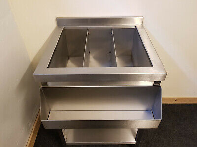 Cocktail Bar Station, Stainless Steel, Fully Insulated Ice Well  *NEW LOW PRICE*