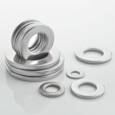 304 Stainless Steel Washers M3 to M33 Flat Gasket GB97 For Electronic Machinery