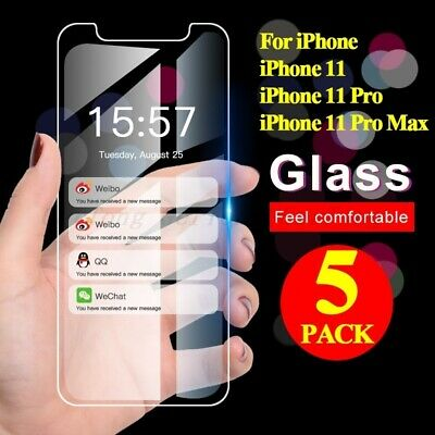 5X Screen Protector Tempered Glass For iPhone SE 5 6 7 8 Plus X Xs Max XR 11 Pro