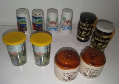 Australiana salt & pepper shakers Gold Coast, Cairns, Snowy Mountains, Qld, S.A.