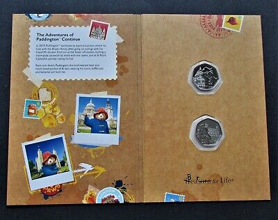 2019 Paddington at St Pauls Cathedral & Tower Of London 50p In Collectors Folder