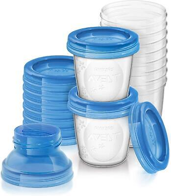 Phillips Avent Reusable Breast Milk Storage Cups, Pack of 10