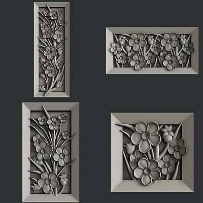 3d STL models for CNC, Artcam, Aspire,flower