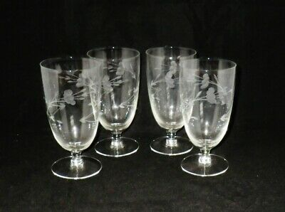 Princess House Crystal Heritage Iced Tea Glasses ~ Set of 4