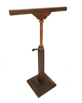 Antique French Buste Girard Paris Tabletop Adjustable Wooden Shop Display Stand