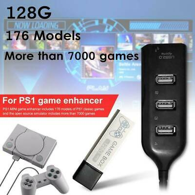 128G PS1 MINI True Blue Mini Crackhead Pack For Playstation Built-in 7000Games .