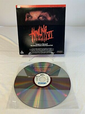 HOWLING VI The Freaks LASERDISC 1991 Horror Werewolf Movie