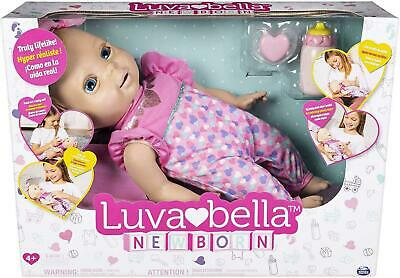 Luvabella 6047317 Newborn, Blonde Hair, Interactive Baby Doll