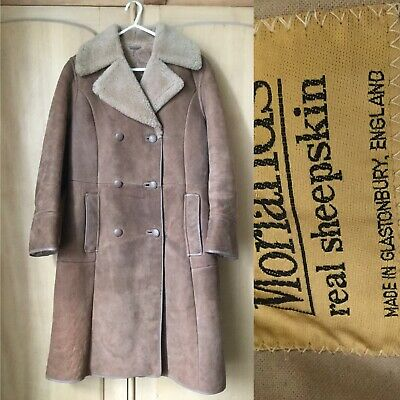Vintage Sheepskin Fitted Coat Size 8 Shearling So Soft Inside