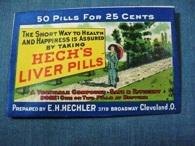 Hechs Liver Pills Enevelope Hechler Company Cleveland Ohio OH