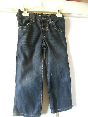 Autograph M & S girls dark blue denim  trousers  jeans age 3 to 4 height 104 cm