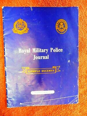 Royal Military Police Journal 2nd Quater 1967 Redcaps,Monkeys .