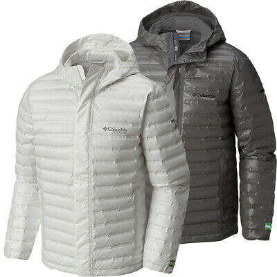 "$280 New Mens Columbia ""OutDry Ex Eco"" Titanium Heat Seal Waterproof Down Jacket"