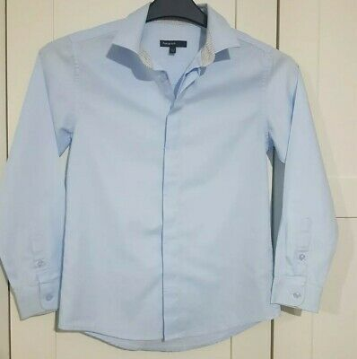 Boys M&S Autograph Long Sleeved Blue Shirt age 10-11 years