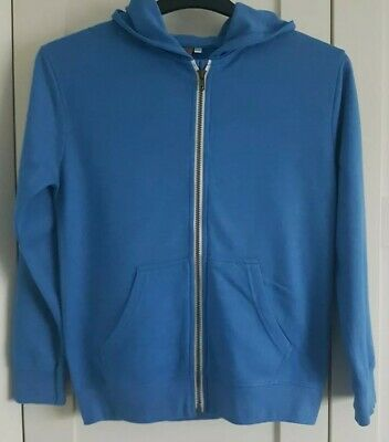 Boys Urban Outlaws Lightweight Blue Zip Up Hoodie age 11-12 years
