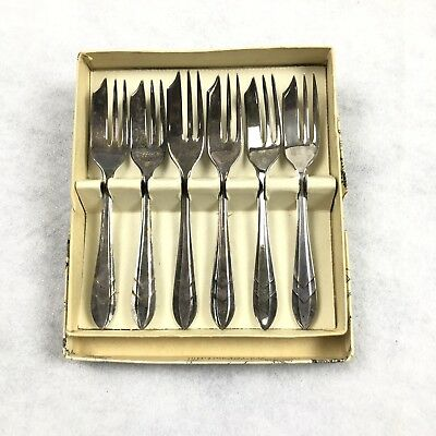 1930s Silver Plated Pastry Forks by Sheffield of England Loxley Pattern EPNS