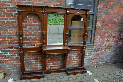 Big Wardrobe Pine Original Antique Bierfarbe Gründerzeit Era Decorative Rare